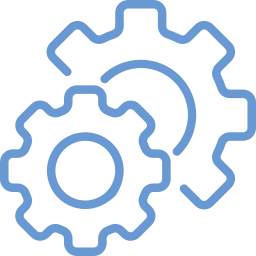 Cartoon of two gears working together
