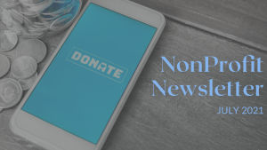 Nonprofit newsletter full of resources for a nonprofit fundraising professional